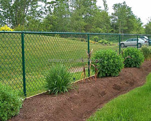 outdoor used pvc coated chain link fence