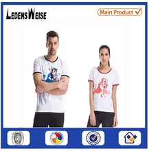 New Customized couple design t shirt with pattern