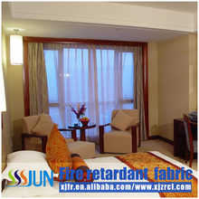 Latest curtain designs 2015 modern blackout fire retardant hotel curtain/drapery for living room XJC 0006