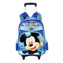 high class student wheeled school backpack