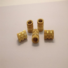 Alibaba china supplier hot sale M3 brass threaded insert for plastic