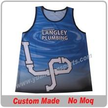 custom sublimation basketball vest no minimum order