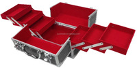 Black Aluminium Rose Beauty Box Cosmetic Make Up Vanity Salon Case Storage Bag