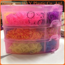 HXY Hot Selling Box Packed Fun Educational Kit Diy Rainbow Name Rubber loop Loom Rubber Bands Bracelet Wholesale