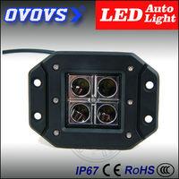 OVOVS trade assurance 24v flash mount 12w led pod light for car vehicle