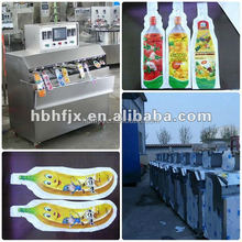 strawberry juice /pineapple juice in pouch packing machine /automatic 8 nozzle filling machine