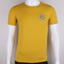 new design high quality 95% cotton 5% elastane mens plain fitted t shirt