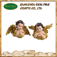 Polyresin Gold Angel Statue, Bust Angel Statue, Little Angel Statue For Home Decoration