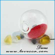 Newly developed handblown glass terrarium,clear glass plant ball holder VI012