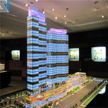 Modern architecture design 1/150 scale models for real estate acrylic 3d building