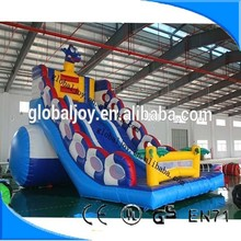 Inflatable double lane slip slide/giant slide for sale