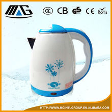 2015 new product Russian plastic+SS heating element electric water kettle double, water boiler