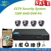 Best Quality Home Security CCTV 720P AHD DVR Kit 4 IR Camera System Made in China