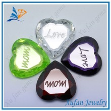 Fashion variety color heart cut cubic zirconia price