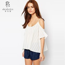 Short Sleeve Shirt Cold Shoulder Bardot off the shoulder top t-shirt wholesale