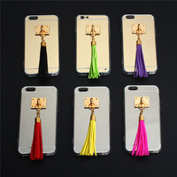 custom made cute tassel design tpu water proof phone case mobile phone cover for girls