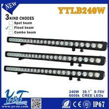 2015 Newest aluminum housing Offroad led light bar 240W tractor led light bar 4x4 j off road led lighting bar