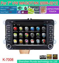 """7"""" Android 4.2 Car DVD for VW MAGOTAN/CADDY/PASSAT/ SAGITAR/GOLF/TIGUAN/TOURAN/JETTA/SKODA/SEAT/ CC/POLO/Golf 5/Golf 6 2006-2012"""
