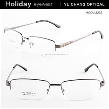 semi-frame business commercial simple design alloy eyeglasses 2015 newest