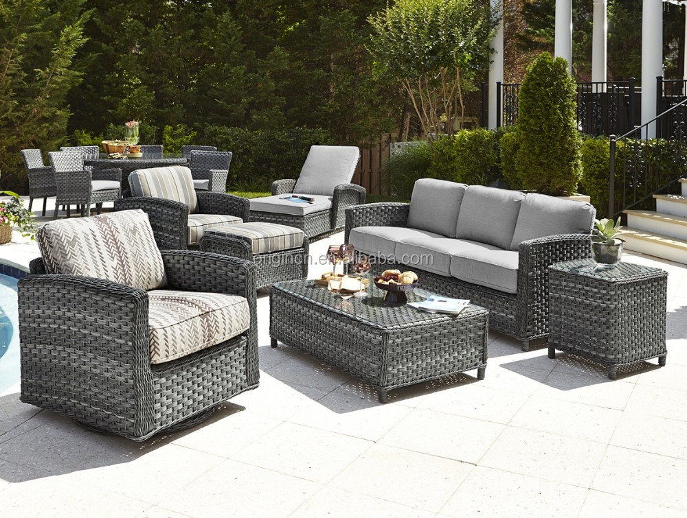 Exotic Style Gorgeous Home Casual Outdoor Lounge Sofa Set Garden Rattan  Furniture Spain