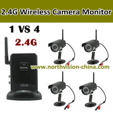 2.4g digital wireless security camera systems with outdoor ir camera, av out