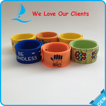 Printing Silicone Slap Bracelet as Wedding GIfts for Lover