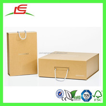 Q1429 China Manufacture Wholesale Luxury Paper Custom Printed Cardboard Packaging Box With Handle