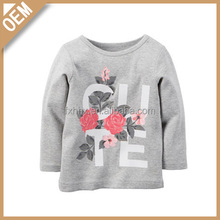 Pattern of roses plain long length baby cheap t-shirts