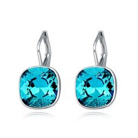 New arrival fashion accessories wholesale white gold plated swarovski earrings for women