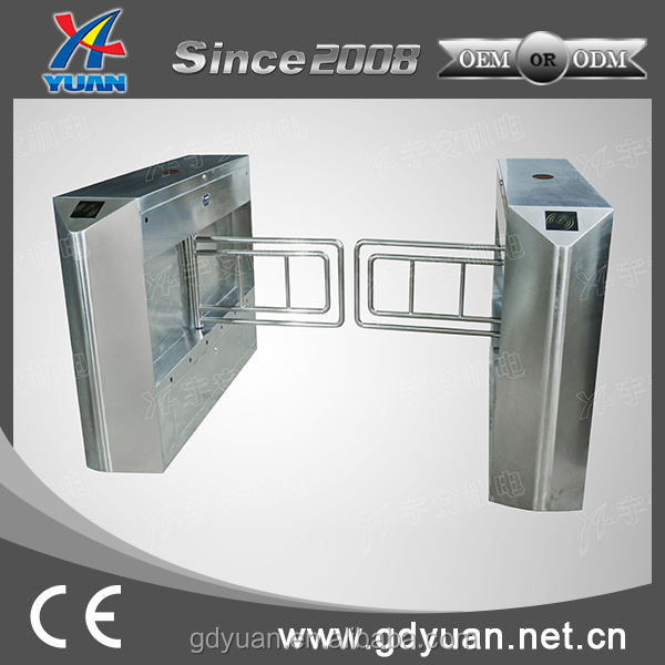 Electronic automatic opening swing barrier gate mechanism