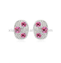Factory Sales Price Austrian Crystal 18K GP Classic Circle Stud Earring