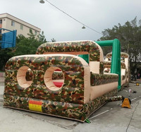 2015 hot kids the camouflage inflatable bouncer castle