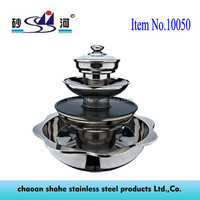 Nonstick Cookware insulated stainless steel BBQ Grill with hot pot Use for Hotel & Professional