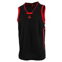PEAK Cheap Basketball Tops For Men Embroidery Logo RED BLACK Knitted Breathable