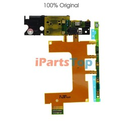 Wholesale Original Side button Power Volume Control Flex Cable For Sony Xperia ZR M36h C5502 C5503 With Microphone Grade A