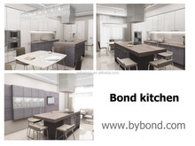 Nice and beatiful kitchen low price paint lacquer door mix wear plate melamine Korean American fashion city kitchen