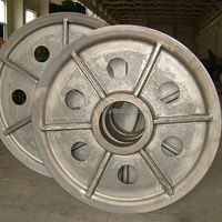 high quality cast steel pulley for crane equipment