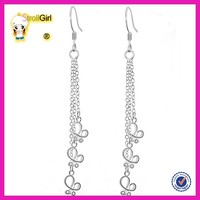 New fashion long chain earring long hanging earring design for women