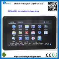 Cheap price 9 inch Allwinner A13 android tablet pc,mic tablet pc android 2.2, China mainland manufacturer