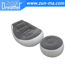 lazy boy bean bags inflatable sofa chair with footrest
