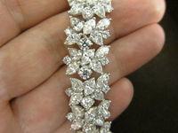DIAMOND BRACELET FIFTY FOUR ROUND THIRTY SIX PEAR FIFTY FOUR MARQUISE FANCY BRACELET