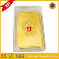 Best Selling USSR Soviet National Emblem CCCP 24k Gold Plated Bar, Russian Commemorative Souvenir Bar