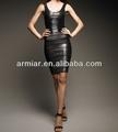 noir robe classique avec caoutchouc am167 estampé à chaud