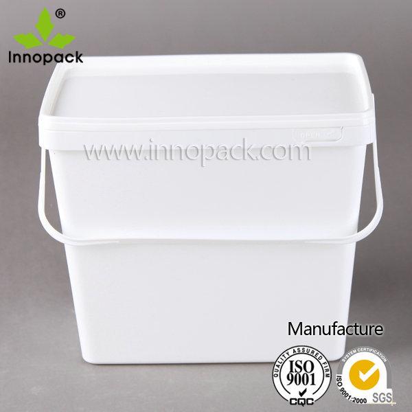 1 Gallon Square Plastic Powder Bucket Rectangular Washing