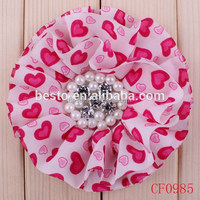 Handmade Chiffon Shabby Shredded Flower,fabric flower for wedding decoration