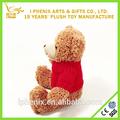 de la felpa oso de peluche con jersey de regalo de san valentín