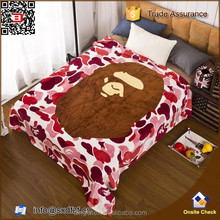 New bathing Ape bape blanket throw 130x150cm flannel fleece camouflage warm NWT