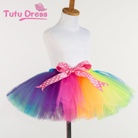 China wholesale rainbow color high quality baby girl tutu dress