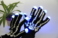 7 mode led gloves rave light finger lighting flash