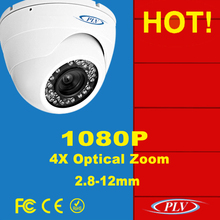 2 mp full hd 1080 p motorized lens megapixel poe zoom ir dome ip auto surveillance camera FCC,CE,ROHS